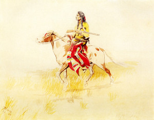 Art Prints of Indian Rider II by Charles Marion Russell