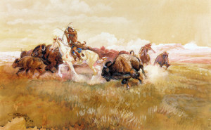 Art Prints of Meat for Wild Men, 1916 by Charles Marion Russell