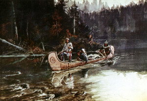 Art Prints of On the Flathead by Charles Marion Russell
