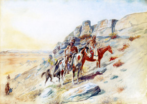 Art Prints of Sighting the Enemy by Charles Marion Russell