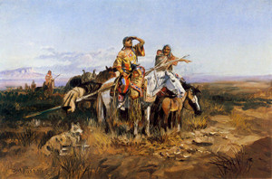 Art Prints of Squaws Moving Camp by Charles Marion Russell