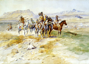 Art Prints of The Advance Party by Charles Marion Russell