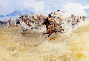 Art Prints of Battle Between the Blackfeet and the Piegans by Charles Marion Russell