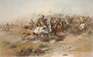 Art Prints of The Custer Fight by Charles Marion Russell