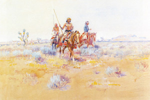 Art Prints of The Navajos by Charles Marion Russell