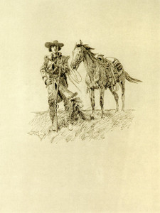 Art Prints of The Young Scout by Charles Marion Russell