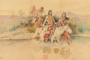 Art Prints of War Party by Charles Marion Russell