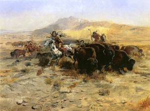 Art Prints of Buffalo Hunt IV by Charles Marion Russell