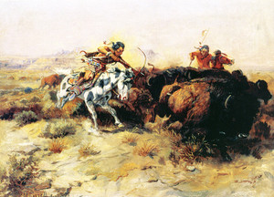 Art Prints of Buffalo Hunt, 1898 by Charles Marion Russell