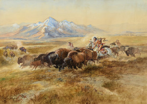 Art Prints of Buffalo Hunt, No. 27, 1900 by Charles Marion Russell