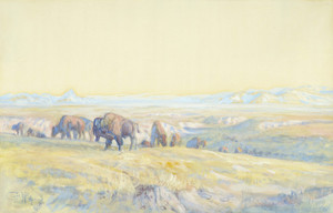 Art Prints of The Buffalo Range by Charles Marion Russell