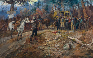 Art Prints of The Hold Up by Charles Marion Russell
