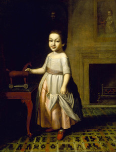 Art Prints of Boy with Toy Horse by Charles Willson Peale
