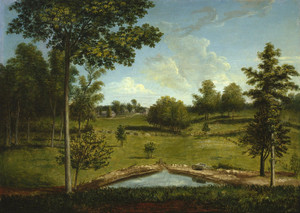 Art Prints of Landscape from Mill Bank by Charles Willson Peale