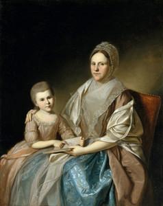 Art Prints of Mrs. Samuel Mifflin and Rebecca Mifflin Francis by Charles Willson Peale