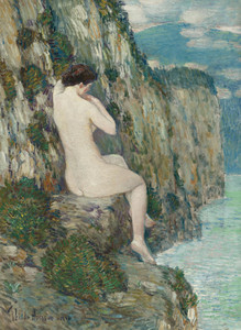 Art Prints of Nude, Isle of Shoals by Childe Hassam