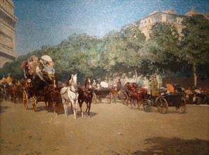 Art Prints of On the Day of the Grand Prix, 1887 by Childe Hassam