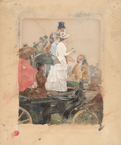 Art Prints of Spectators at the Grand Prix, 1888 by Childe Hassam