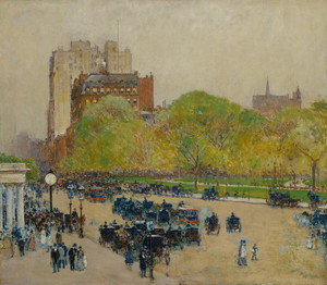 Art Prints of Spring Morning in the Heart of the City by Childe Hassam