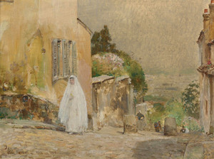 Art Prints of Spring Morning, Rue Mont Cenis, Montmartre by Childe Hassam