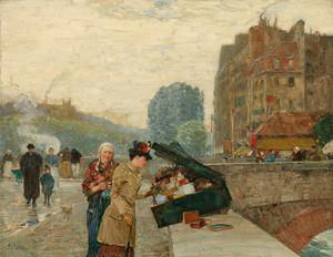 Art Prints of The Quai, Saint Michel, 1888 by Childe Hassam