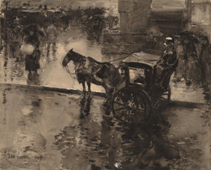 Art Prints of The Up Tide on the Avenue, 1890 by Childe Hassam