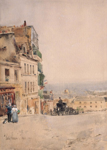 Art Prints of View of Montmartre, Paris by Childe Hassam