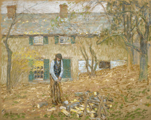 Art Prints of Woodchopper by Childe Hassam