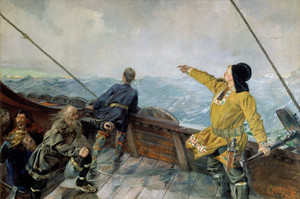Art Prints of Leiv Eirikson Discovering America by Christian Krohg