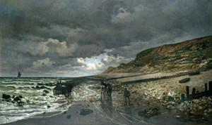 Art Prints of La Pointe de la Heve at Low Tide by Claude Monet