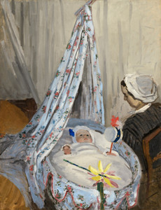 Art Prints of The Cradle, Camille with the Artist's Son, Jean by Claude Monet