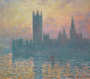 Art Prints of The Houses of Parliament, Sunset by Claude Monet
