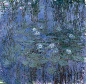 Art Prints of Blue Water Lilies by Claude Monet