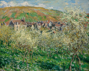 Art Prints of Flowering Plum Trees by Claude Monet