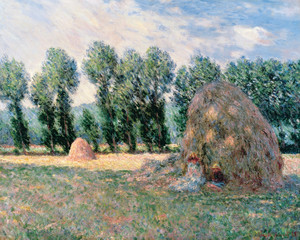 Art Prints of Haystacks by Claude Monet