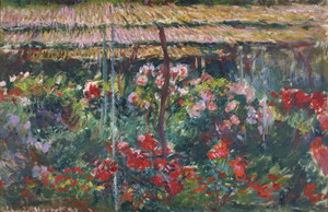 Art Prints of Peony Garden by Claude Monet
