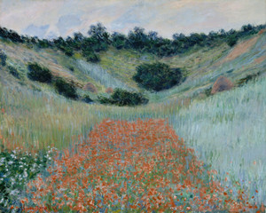 Art Prints of Poppy Field in a Hollow near Giverny by Claude Monet