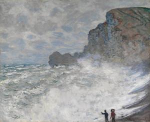 Art Prints of Rough Weather at Etretat by Claude Monet