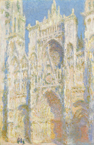 Art Prints of Rouen Cathedral, West Facade Sunlight by Claude Monet