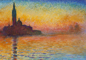 Art Prints of San Giorgio Maggiore at Dusk by Claude Monet