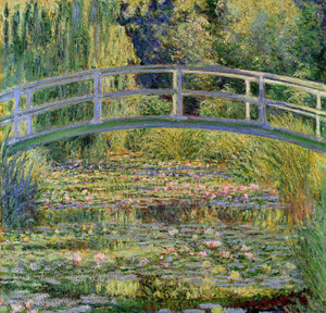 Art Prints of The Japanese Bridge and Water Lily Pond by Claude Monet