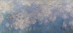 Art Prints of The Water Lilies, the Clouds, Tryptic II by Claude Monet