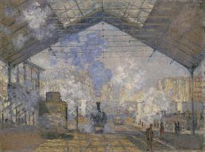 Art Prints of The Saint Lazare Station by Claude Monet