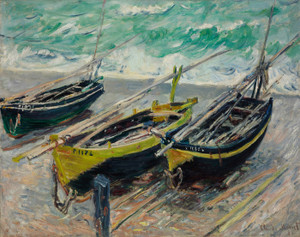 Art Prints of Three Fishing Boats by Claude Monet
