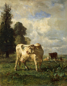 Art Prints of Cowfield by Constant Troyon