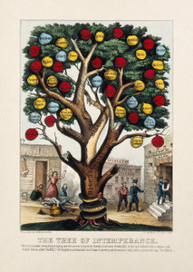Art Prints of The Tree of Intemperance Showing Diseases and Vices by Currier & Ives