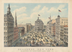 Art Prints of Broadway, NY from Western Union Telegraph Building by Currier & Ives