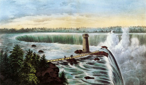 Art Prints of Niagara Falls from Goat Island by Currier & Ives