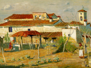 Art Prints of Group of Houses, Tuscany by Daniel Garber