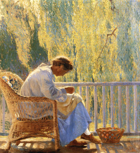 Art Prints of Mending by Daniel Garber